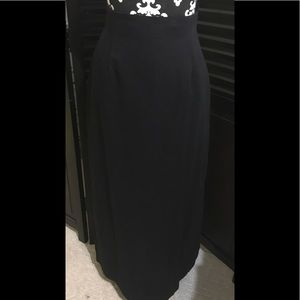 NWOT Long Black Skirt with Mini skirt underneath